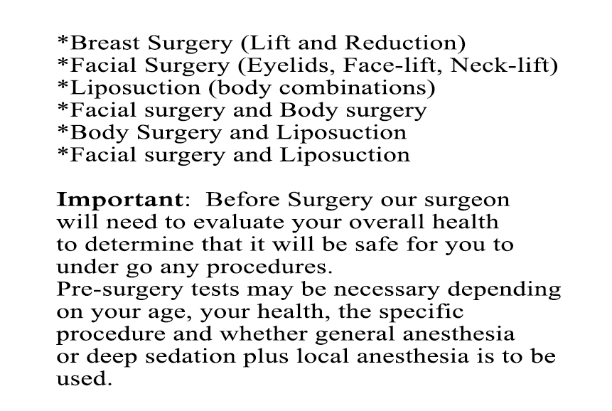 surgery specials and safety